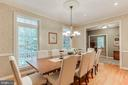 Large dining room to seat 8 comfortably - 8240 EDGEWOOD CHURCH RD, FREDERICK