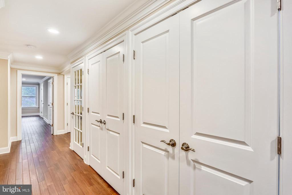 Behind these two sets of doors are lit pantries - 315 SCOTT DR, SILVER SPRING