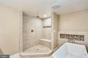 Main level Master bathroom with heated floors - 315 SCOTT DR, SILVER SPRING