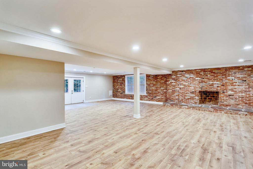 Huge recreation room with fireplace and walkout - 315 SCOTT DR, SILVER SPRING