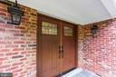 Beautiful wood door entry - 315 SCOTT DR, SILVER SPRING