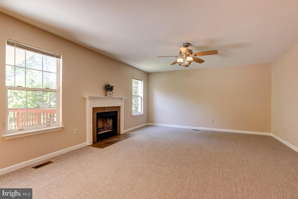 Large Family Room with new carpet - 9224 MATTHEW DR, MANASSAS PARK