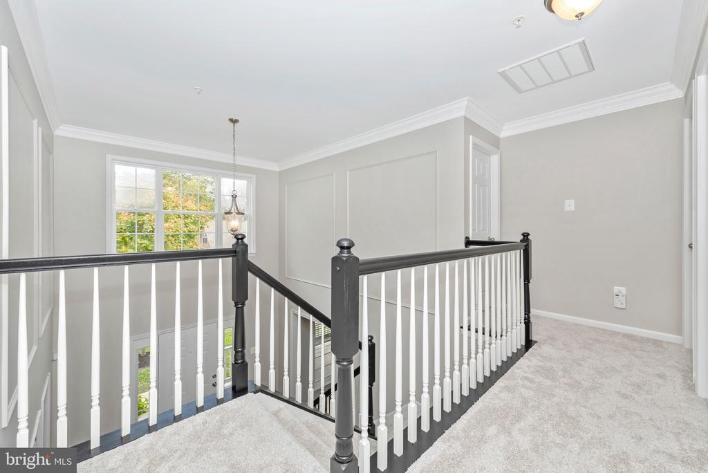 Hallway and upper level bedrooms - 10303 ILIAMNA CT, NEW MARKET
