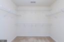 Master  walk in closet - 11 DARDEN CT, STAFFORD