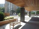 Sitting bench at entrance - 2939 VAN NESS ST NW #1212, WASHINGTON
