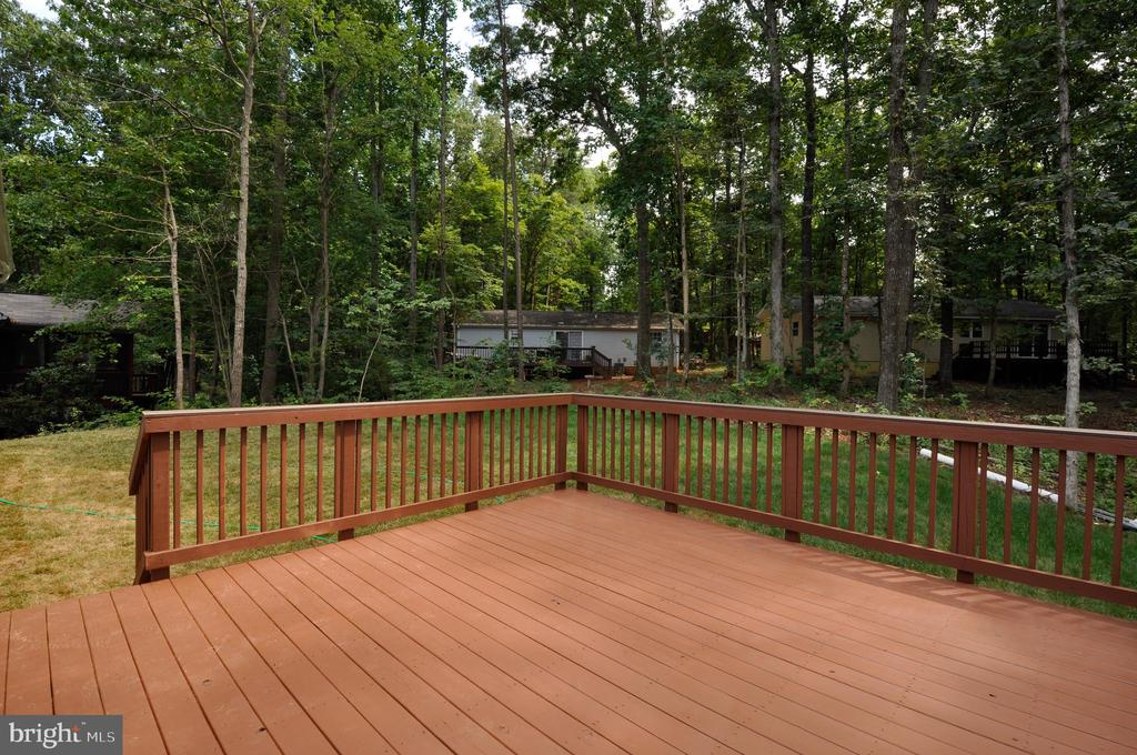Deck has  gas line connection for your Grilling - 319 LIBERTY BLVD, LOCUST GROVE