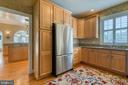 Butler's Kitchen with stainless steel refrigerator - 7 PLANTERS PL, STAFFORD