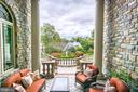 French inspired patio, fountain and garden - 3036 WOODLAND DR NW, WASHINGTON