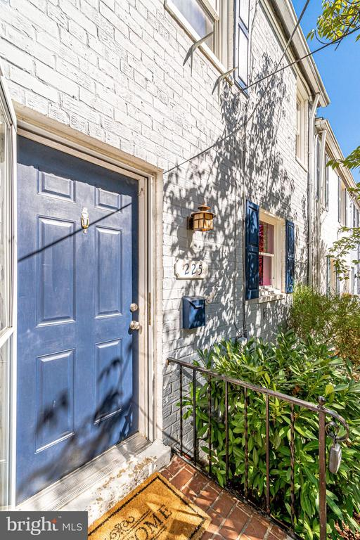 Vibrant blue door welcomes you inside - 225 GUTHRIE AVE, ALEXANDRIA