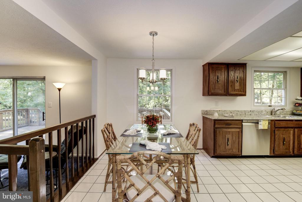 Kitchen with lots of table space - 1209 GOTH LN, SILVER SPRING