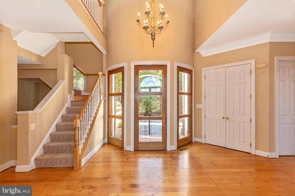 Two story entry foyer - wood floors throughout. - 10035 PEBBLE BEACH TER, IJAMSVILLE