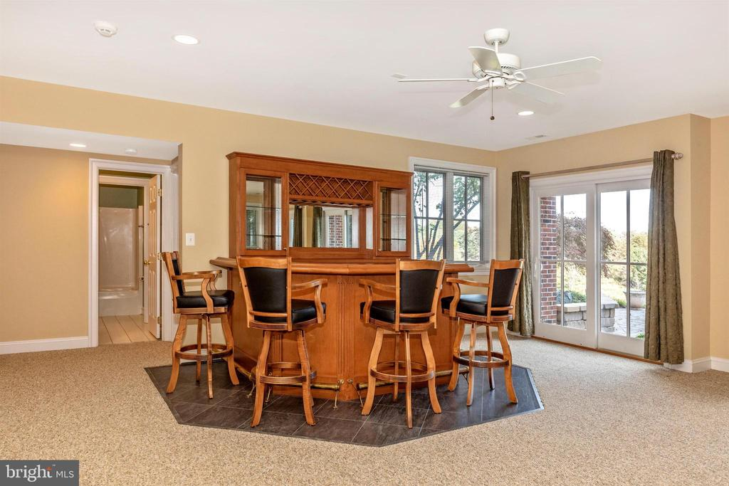 Lower level rec room with bar. - 10035 PEBBLE BEACH TER, IJAMSVILLE