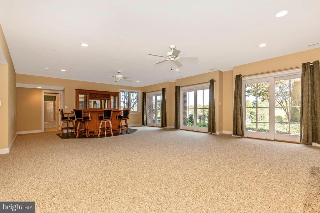 Lower level rec room with walkout to patio area. - 10035 PEBBLE BEACH TER, IJAMSVILLE