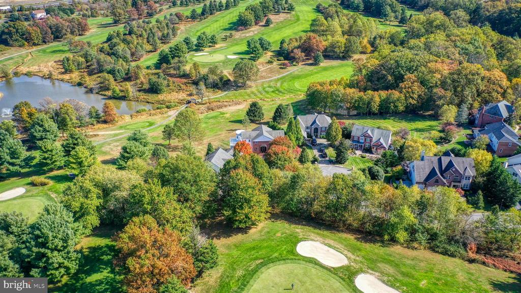 Stunning aerial view of home and property. - 10035 PEBBLE BEACH TER, IJAMSVILLE