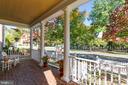 Masonry front porch with beautiful park views - 616 FIREHOUSE LN, GAITHERSBURG
