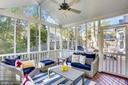 Screened porch addition w/lighted ceiling fan - 616 FIREHOUSE LN, GAITHERSBURG
