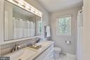 Hall Bath with new Dual Vanity - 17970 GORE LN, LEESBURG
