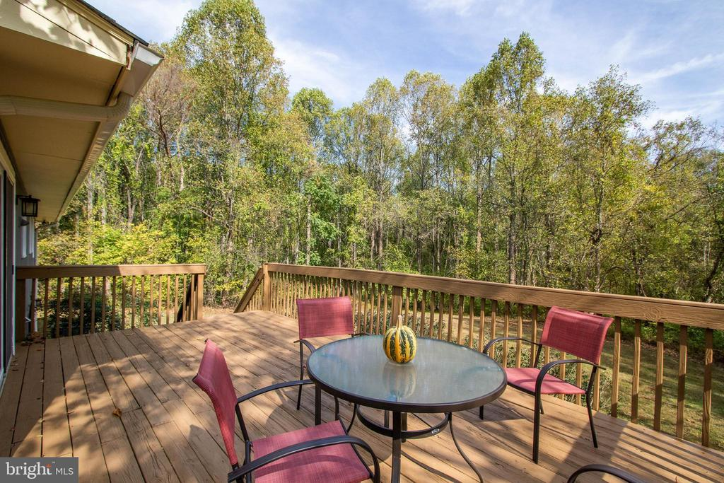 Newly Stained Private Deck - 17970 GORE LN, LEESBURG