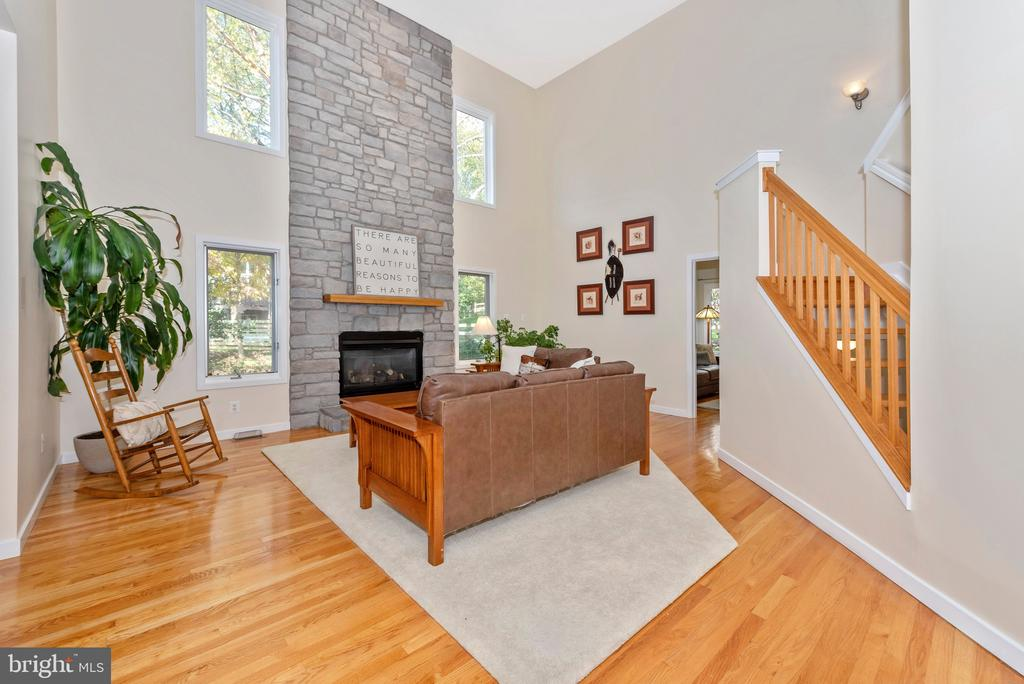Floor to ceiling stone and large windows - 9706 WOODLAKE PL, NEW MARKET