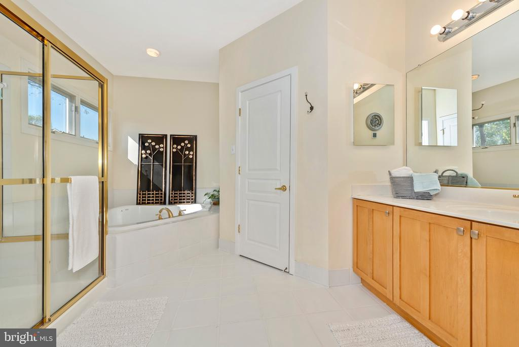 Bath with jetted tub and private rest room - 9706 WOODLAKE PL, NEW MARKET