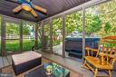 Relax on the screened porch...LOOK it's a hot tub! - 9706 WOODLAKE PL, NEW MARKET