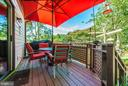 Deck off kitchen - 9706 WOODLAKE PL, NEW MARKET