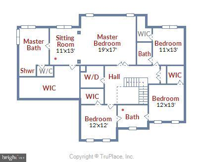 Upper Level Floor Plan - 41728 WAKEHURST PL, LEESBURG