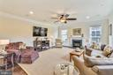 Family Room with Gas Fireplace - 41728 WAKEHURST PL, LEESBURG