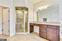 Master Bathroom with Shower and Sep Tub - 41728 WAKEHURST PL, LEESBURG