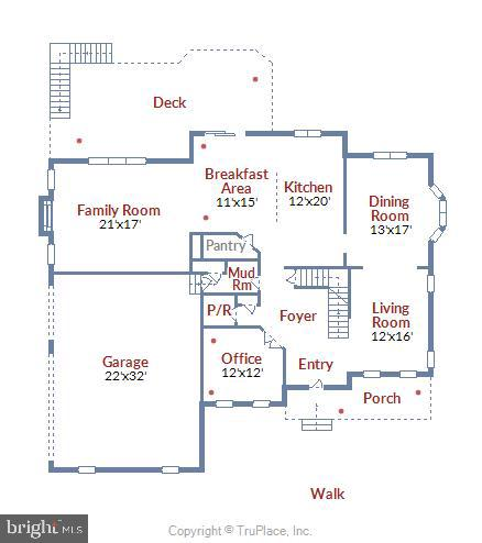 Main Level Floor Plan - 41728 WAKEHURST PL, LEESBURG