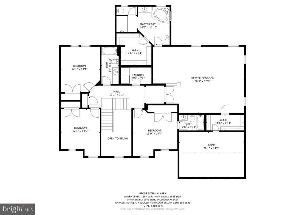 Upper-Level floor plan - 42232 MADTURKEY RUN PL N, CHANTILLY