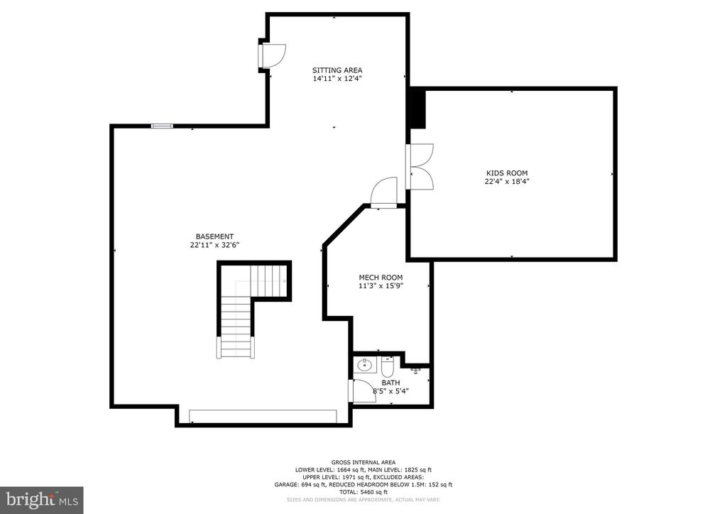 Lower Level floor plan - 42232 MADTURKEY RUN PL N, CHANTILLY