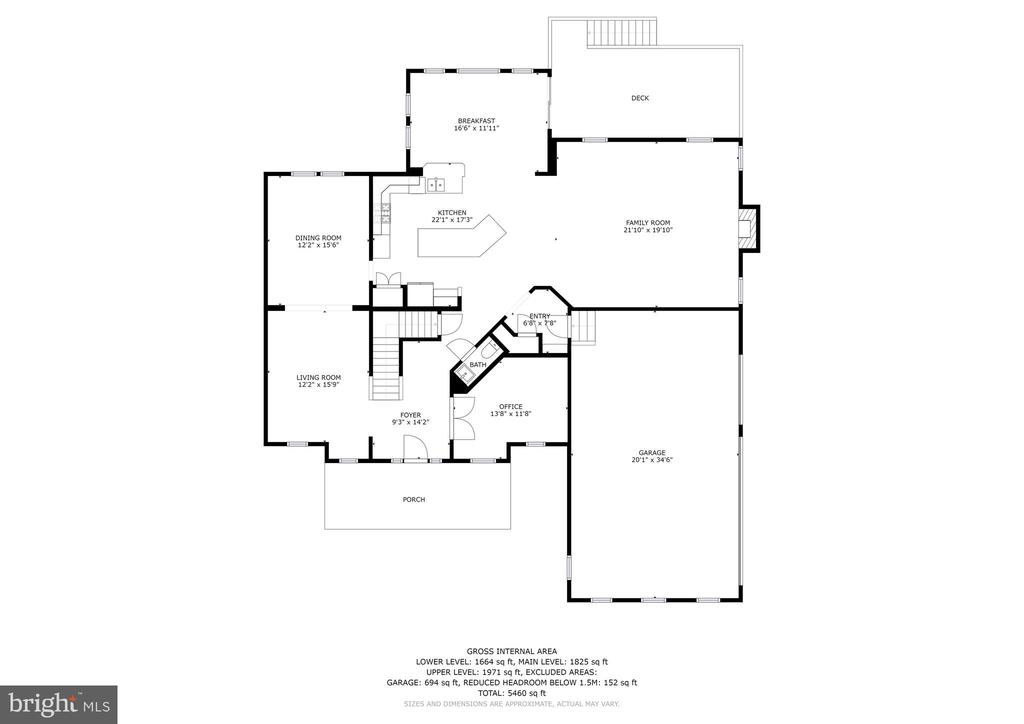 Main Level Floor Plan - 42232 MADTURKEY RUN PL N, CHANTILLY