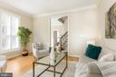 Plenty of natural light in living room - 4711 FOXHALL CRESCENT NW, WASHINGTON