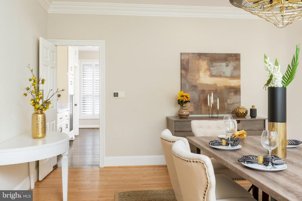 Stunning dining room - 4711 FOXHALL CRESCENT NW, WASHINGTON