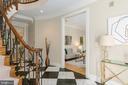 Elegant foyer entrance - 4711 FOXHALL CRESCENT NW, WASHINGTON