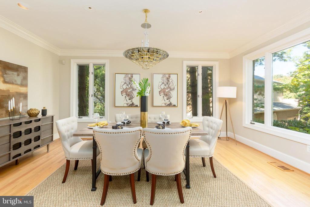Beautiful dining room - 4711 FOXHALL CRESCENT NW, WASHINGTON