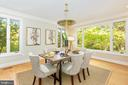 Natural light from large windows - 4711 FOXHALL CRESCENT NW, WASHINGTON