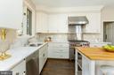 Large gourmet kitchen - 4711 FOXHALL CRESCENT NW, WASHINGTON