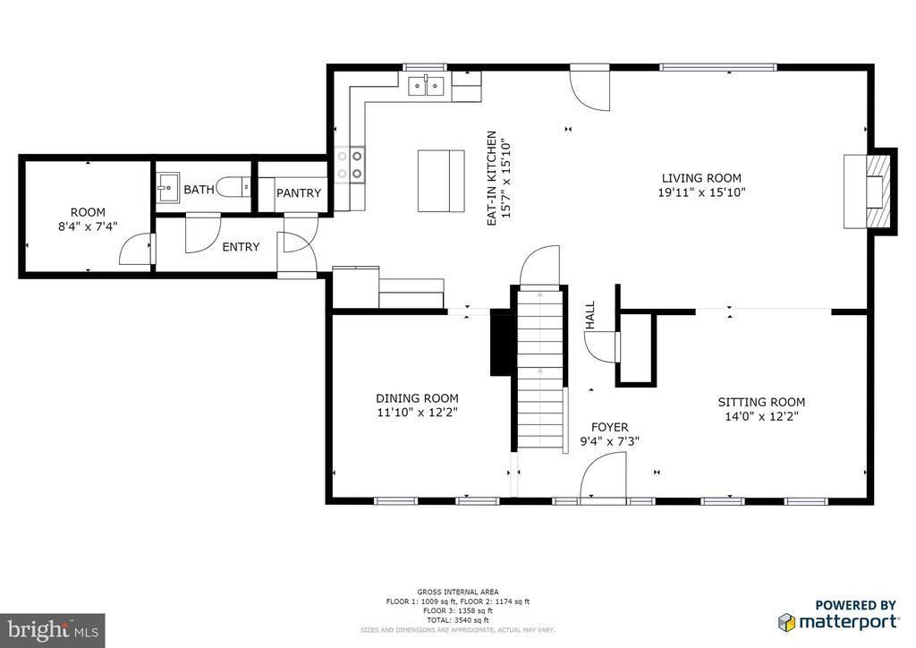 Main level floor plan - 9355 DEVILBISS BRIDGE RD, WALKERSVILLE
