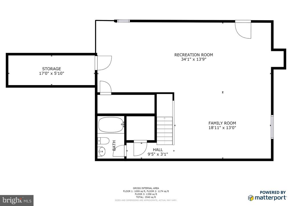 Basement level floor plan - 9355 DEVILBISS BRIDGE RD, WALKERSVILLE