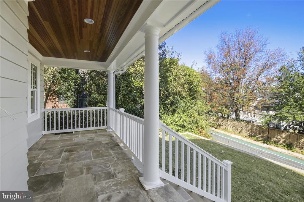 Sweeping views from the large slate front porch - 2222 KING ST, ALEXANDRIA