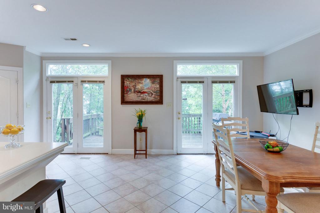 Set of double French Doors - 8178 MADRILLON CT, VIENNA