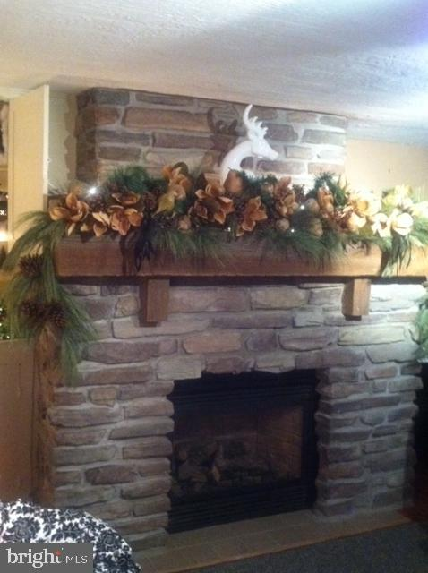 Beautiful stone fireplace. - 108 PARK LN, THURMONT