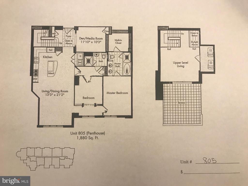 Floor Plan - 4301 MILITARY RD NW #PH5, WASHINGTON