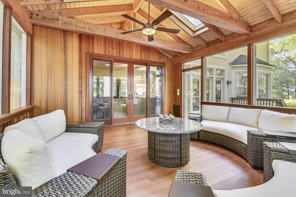Screen porch with skylights & lighted ceiling fan - 10680 ALLIWELLS CT, OAKTON
