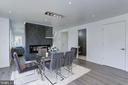 Luxurious dining space with double-sided gas fire - 128 17TH ST NE, WASHINGTON
