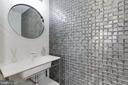 Main floor powder room w/imported tile from Spain - 128 17TH ST NE, WASHINGTON