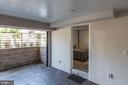 Basment bedroom opens to outdoor covered patio - 128 17TH ST NE, WASHINGTON