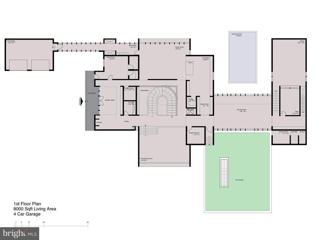 Floor Plan - Main Level - 681 CHAIN BRIDGE RD, MCLEAN